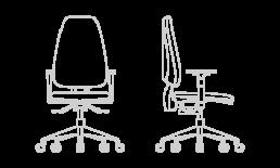 Silla de escritorio y oficina Adapta sitback