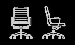 Silla de despacho y oficina Trinity