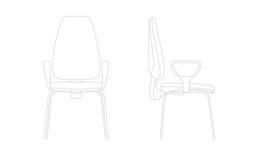 Silla oficina Adapta 4 patas